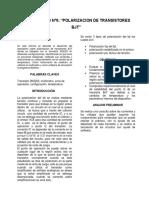 POLARIZACION DE TRANSISTORES BJT