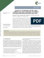 Growth CH3NH3PbI3 CSVT for Perovskite Solar Cells