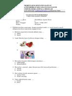 Soal Ulangan Agama Kelas 1 Edit