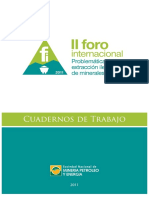4f8f8761a59f3 Cuaderno de Trabajo II Foro Internacional Problematica de La Extraccion Ilegal de Minerales Marzo 2012