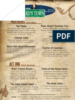 The Bards Town Menu