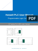 User's Manual of Haiwell C and T Series PLC MPU