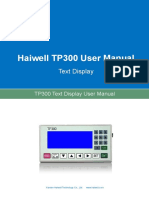 User's Manual of Haiwell TP300 Text Display