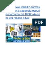 Câmera Capacete Esporte Mergulho Hd 1080p SUPER PROMOÇÃO