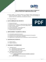 Quia y Formato de Presentación de Proyectos