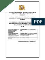 Cronograma Del Proceso de Evaluación 2018