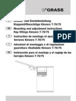 Kinvaro t 70 t 75 Installation Instruction