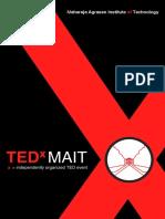 TEDxMAIT Brochure Speakers