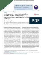 Pasado y presente de la sedación colombiana