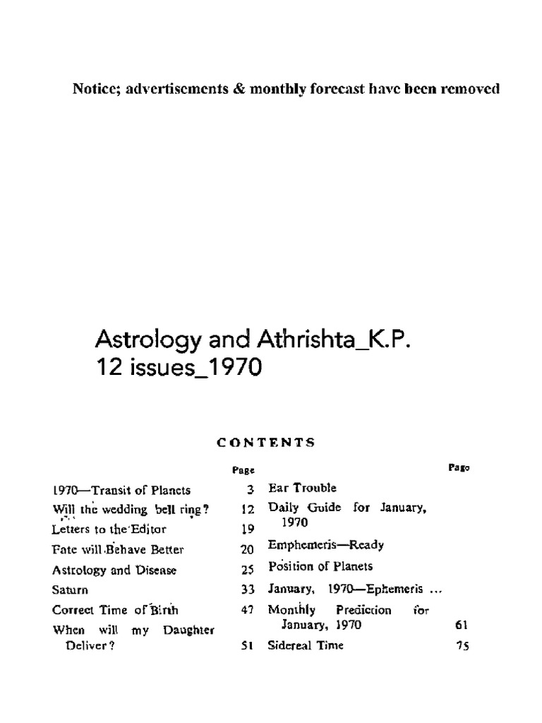 Astrology and Athrishta_K P _12 issues_1970 (1) pdf