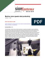 Machine Vision Speeds Robot Productivity