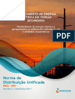 NDU 001 - Fornecimento de Energia Elétrica Em Tensão Secundária Edificações Individuais Ou Agrupadas Até 3 Unidades