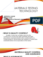 Materials Testing Technology