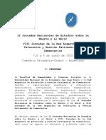 Circular 1 II y VIII Jornadas Funerarias en La Patagonia