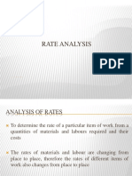 Rate Analysis
