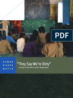 HRW - 'They Say We're Dirty'; Denying an Education to India's Marginalized (2014).pdf