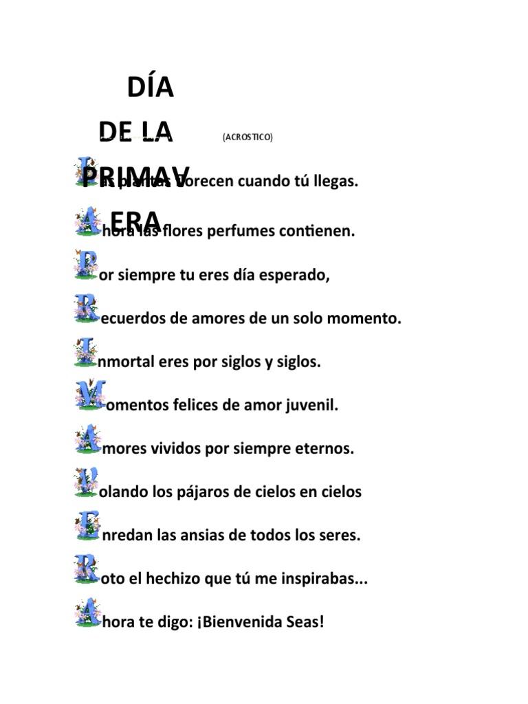 Atractivo Plantillas De Poemas Acrósticos Molde - Ejemplo De ...