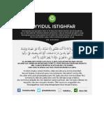 sayidul istighfar