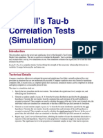 Kendall's Tau-b Correlation Tests (Simulation)