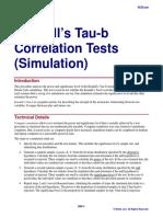 Kendall's Tau-b Correlation Tests (Simulation)