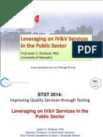 STST 2014 - Prof Jasbir Dhaliwal - Leveraging IVV in Public Sector