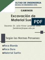 Excavacion de Material Suelto