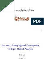 Lesson 1 Input Output Analysis