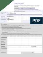 Manchester University References Form