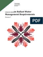 Australian Ballast Water Management Requirements