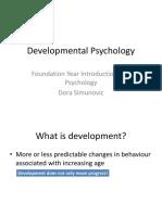 Week 4 - Developmental Psychology