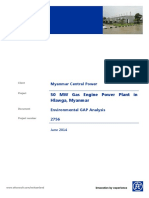 Myanmar Gas Powerplant EIA