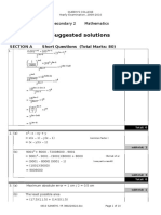 S2 09-10 Paper 1 Yearly Solution