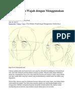 Cara Melukis Wajah Dengan Menggunakan Teknik Dasar