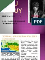Suku Baduy Ppt