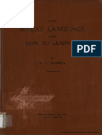 The Malay Language and How to Learn It