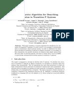 A Recursive Algorithm for Describing Evolution in Transition P Systems