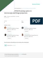 ApplicationofDVD_CDpickupopticstomicroscopyandfringeprojection