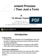 10 Minute Training - Informed Consent 3-28-2013