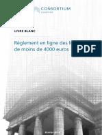 Livre blanc sur le règlement en ligne des litiges de moins de 4000 euros