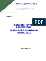 [APOSTILA].-.Direito Ambiental - IBAMA - Legislacao Ambiental