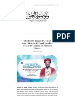 Sheikh Dr. Ismail Dicemuh dan Difitnah di Tanah Sendiri Tetapi Disanjung di Persada Dunia
