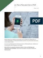 WhatsApp Business Paso a Paso Para Crear Un Perfil