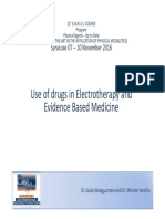 Electrotherapy- Use of Drug and EBM