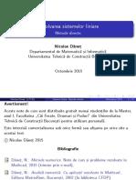 Beamer Cap1 Sisteme Liniare.metode Directe