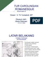 Presentasi arsitektur carolingan & Romanesque.pptx