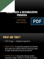Barbiturate Benzodiazepine Poisoning