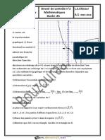 Devoir de Contrôle N°2 - Math - 3ème Sciences exp (2015-2016) Mr Bouzouraa.Anis