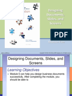 Module 5 Designing Documents Slides and Screens SS 1 201516
