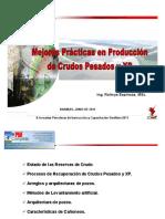 PDVSA - Ing Rolmys Espinoza - Mejores Prácticas en Produccion de Crudos Pesados y XP