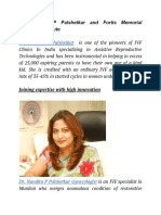 Dr. Nandita P Palshetkar and Fortis Memorial Research Institute